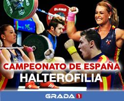 Grada 1 retransmitirá en exclusiva el Campeonato de España de Halterofilia