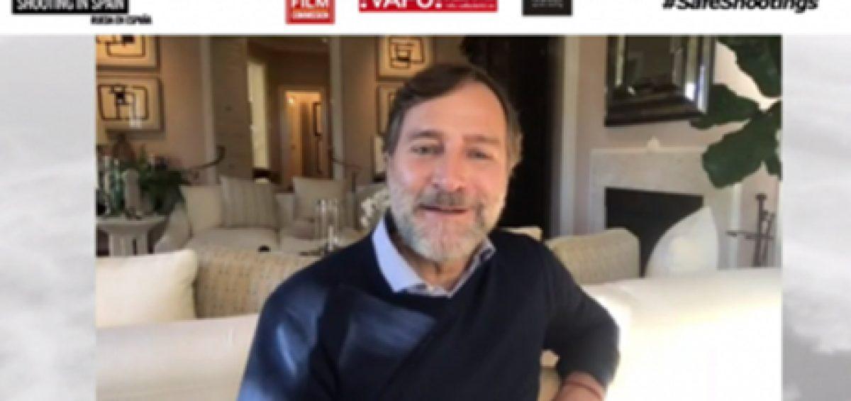 James Costos, presidente de Secuoya Studios, en el primer encuentro virtual Shooting in Spain
