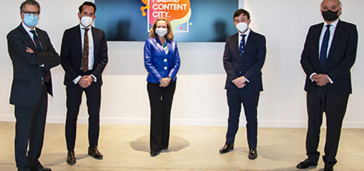 La Vicepresidenta Tercera del Gobierno visita Madrid Content City